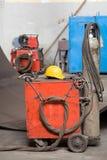 промышленный welder красного цвета mig Стоковое Изображение RF