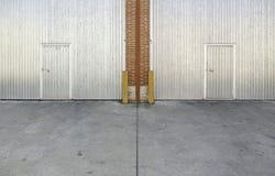 Промышленная дверь металла Стоковое Изображение