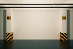 Промышленная внутренняя концепция Опорожните подземный гараж 3 бесплатная иллюстрация