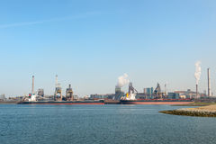 Промышленная гавань моря Стоковая Фотография
