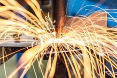 Промышленная заварка автомобильная Стоковые Фотографии RF