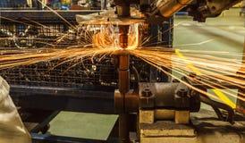 Промышленная заварка автомобильная стоковое фото rf