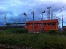 Промышленная зона города стоковые изображения