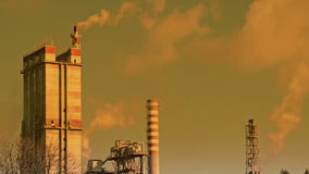 Промышленная зона и загрязнение сток-видео