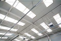 Промышленная крыша залы Стоковая Фотография