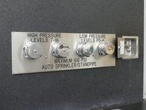 Промышленная панель огня спринклера Стоковая Фотография