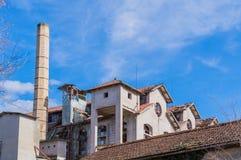 Промышленная печь в руинах Стоковое Изображение