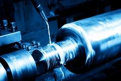 Промышленная поворачивая машина на конце-вверх работы Стоковое Изображение RF