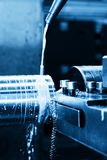 Промышленная поворачивая машина на конце-вверх работы Стоковая Фотография RF