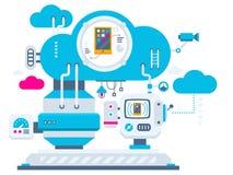 промышленная предпосылка иллюстрации technolog облака Стоковое Изображение RF