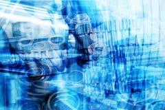 Промышленная предпосылка конспекта технологии Промышленность Стоковые Фото