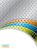 Промышленная предпосылка с волнами цвета Стоковое фото RF