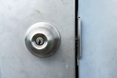 Промышленная ручка двери стоковые фотографии rf