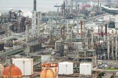 Промышленная фабрика в городе Yokkaichi Японии Стоковые Фото