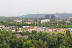 Промышленная часть города Стоковые Фото