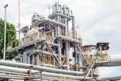 Промышленное оборудование и трубопроводы Стоковое фото RF