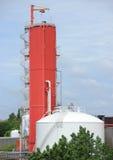 Промышленное предприятие производящ обжатый воздух с контейнером Стоковые Изображения