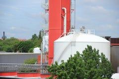 Промышленное предприятие производящ обжатый воздух с контейнером Стоковые Фото