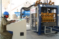 Промышленное производство кирпича Стоковая Фотография