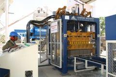 Промышленное производство кирпича Стоковое фото RF