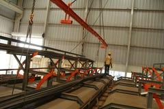 Промышленное производство кирпича Стоковое Изображение