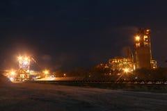 Промышленное производство цемента Стоковое Изображение RF