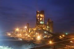 Промышленное производство цемента Стоковая Фотография RF