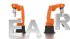 Промышленное робототехническое здание оружий УЧИТ слово акции видеоматериалы