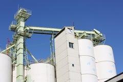 Промышленное силосохранилище склада и хранения Стоковые Фотографии RF