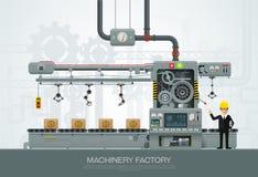 Промышленное строительное оборудование фабрики машины проектируя ve бесплатная иллюстрация