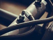 Промышленное detaild пневматическое, гидравлическое машинное оборудование сделанное из стали Стоковое Фото