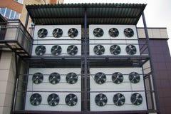 промышленные кондиционеры воздуха стоковые изображения rf