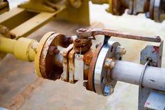 Промышленные клапан/запорная заслонка трубы Стоковое Фото