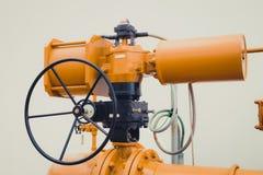Промышленные клапан/запорная заслонка трубы Стоковые Изображения RF
