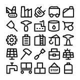 Промышленные покрашенные значки 10 вектора Стоковые Фотографии RF