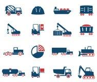 Промышленные просто значки Стоковое Изображение