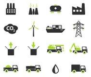 Промышленные просто значки Стоковая Фотография