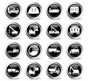 Промышленные просто значки Стоковые Изображения