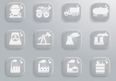 Промышленные просто значки Стоковые Фото