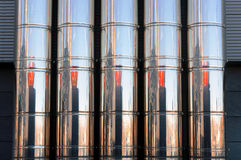 Промышленные трубы металла системы вентиляции Стоковые Фотографии RF