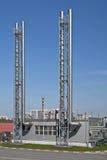 промышленные трубы металла стоковые фотографии rf