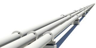 Промышленные трубы протягивая в расстояние Стоковые Фото