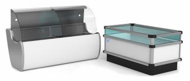 Промышленные холодильники горизонтальные иллюстрация вектора
