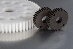 Промышленные шестерни сделанные от пластмасс Стоковые Фотографии RF