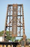 Промышленный железнодорожный Drawbridge Стоковая Фотография RF
