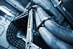 Промышленный интерьер - силовой кабель стоковые фото