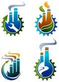 Промышленный комплект логотипа иллюстрация штока