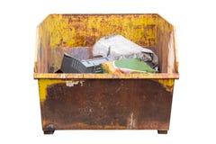 Промышленный контейнер отброса изолированный на белой предпосылке Стоковое Изображение
