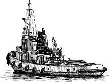 Промышленный корабль Стоковые Изображения