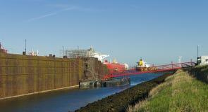 Промышленный корабль стоковое фото